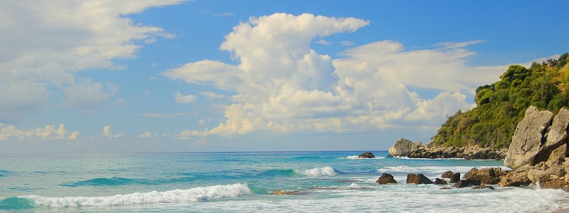 Słoneczna pogoda na Korfu